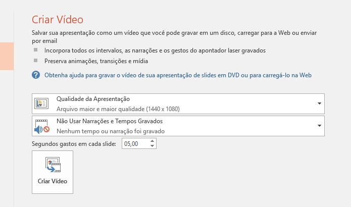 Defina as configurações do vídeo (Foto: Reprodução/Helito Bijora)