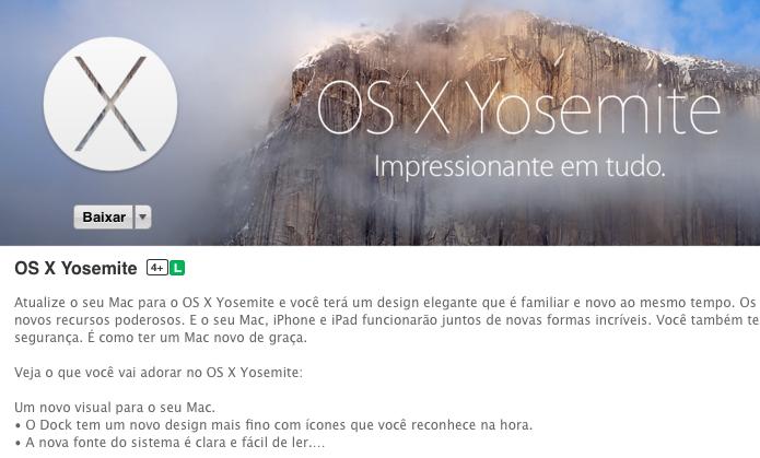 Acesse a App Store e baixe o OS X Yosemite (Foto: Reprodução/Helito Bijora)