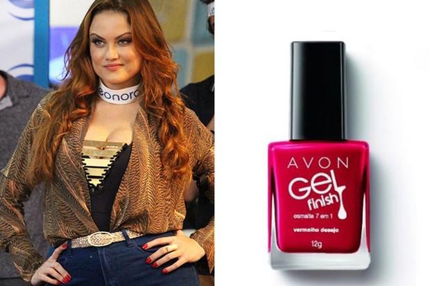 Ellen Roche usa esmalte Vermelho Desejo, da Avon R$13,90 (Foto: TV Globo / Reprodução )