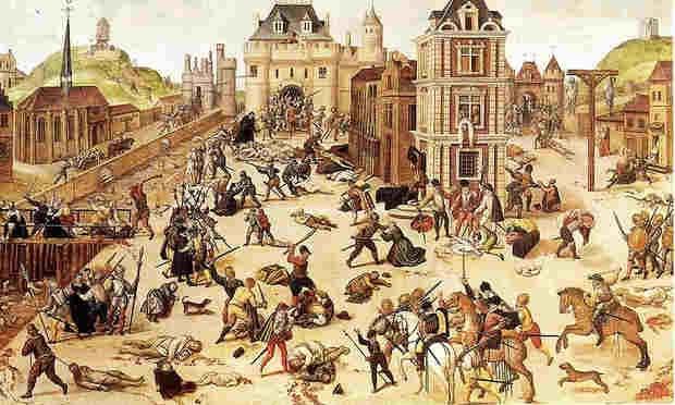 Massacre de São Bartolomeu  (Foto: Pintura: François Dubois/Reprodução)
