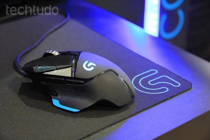 Mouse gamer G502 Proteus Core, da Logitech (Foto: Anna Kellen Bull/TechTudo)