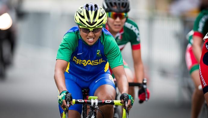 Clemilda Fernandes, na prova de ciclismo em estrada (Foto: Jonne Roriz/Exemplus/COB)