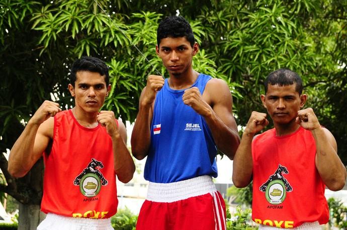 Boxeadores do Amazonas Rodrigo João e Cleberson (Foto: Mauro Neto/Sejel)