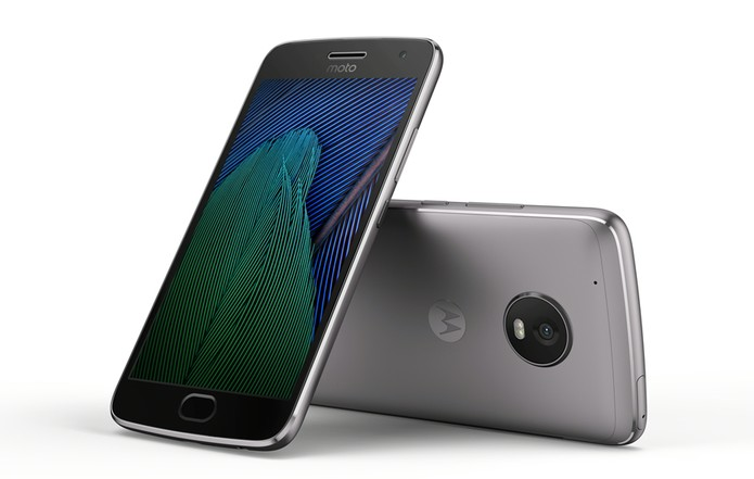 Moto G5 Plus possui acabamento em metal. (Foto: Reprodução/Lenovo) (Foto: Moto G5 Plus possui acabamento em metal. (Foto: Reprodução/Lenovo))