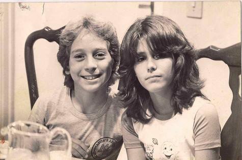 Juliana e Oberdan Junior em 'A gata comeu', em 1985 (Foto: Arquivo pessoal)