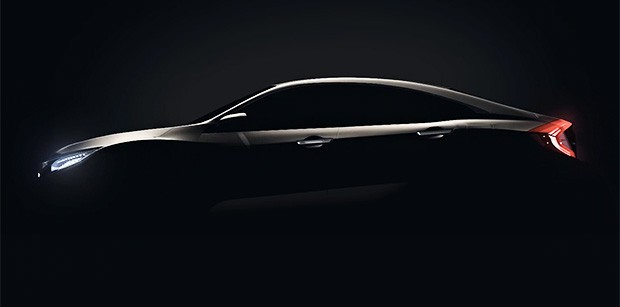 Honda Civic aparece em teaser de lançamento nacional (Foto: Honda)