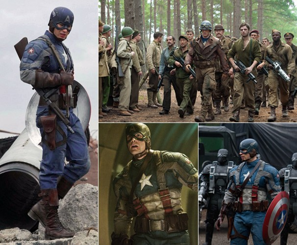 Chris Evans vive o Capitão América em filme inédito vai ao ar nesta segunda, dia 21 (Foto: Divulgação)