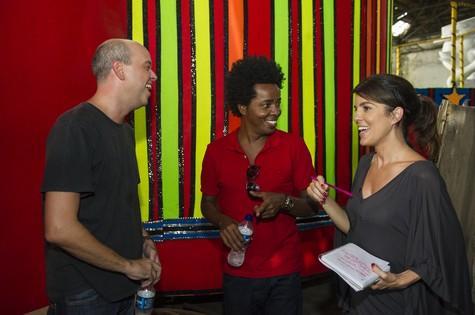 Alex Escobar, Wagner Gonçalves e Mariana Gross (Foto: Divulgação/TV Globo)
