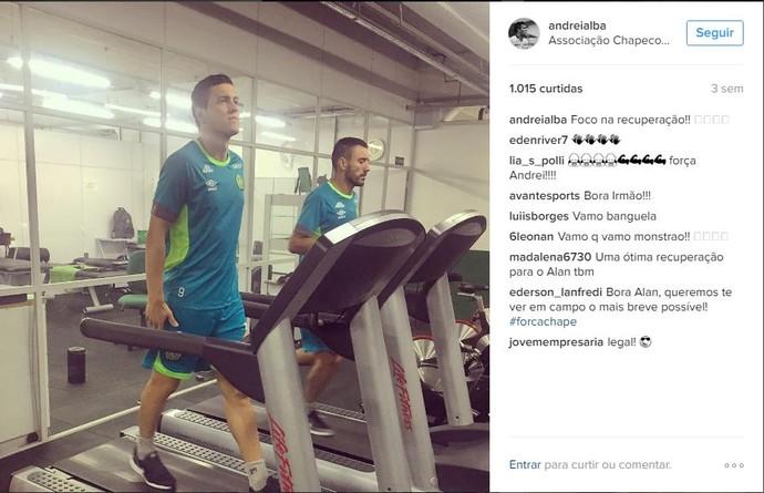 Andrei Alba instagram com Ruschel (Foto: Reprodução)