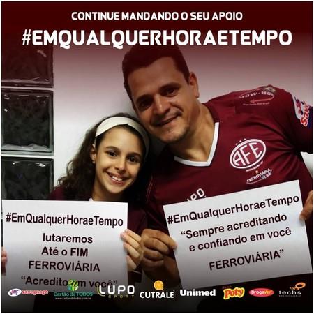 ferroviaria campanha hashtag (Foto: Reprodução/Facebook)