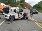 Acidente entre carro e carreta na BR-116 deixa um homem ferido