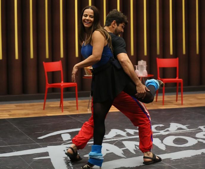 Viviane Araújo em passo do 'Dança' (Foto: Isabella Pinheiro / Gshow)