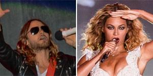 Jared Leto e Beyoncé são os escolhidos (Flavio Moraes/G1 e Raul Aragão/I Hate Flash/Divulgação Rock in Rio)