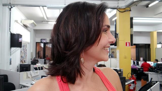 Vanessa Machado com seu novo visual (Foto: Priscila Martinez)