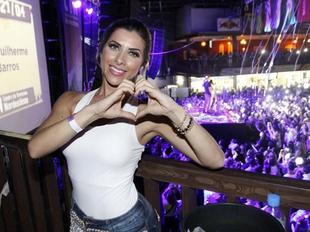 Ana Paula Minerato em show em São Paulo (Foto: Celso Tavares/ EGO)