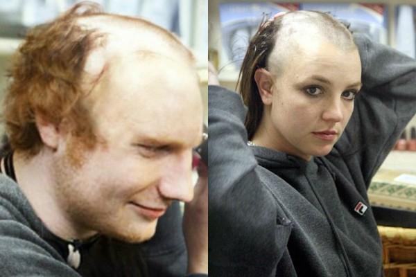 Ed Sheeran e Britney Spears (Foto: Reprodução)