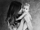 Rubia Baricelli compartilha clique fofo de ensaio com a filha: 'Meu tesourinho'