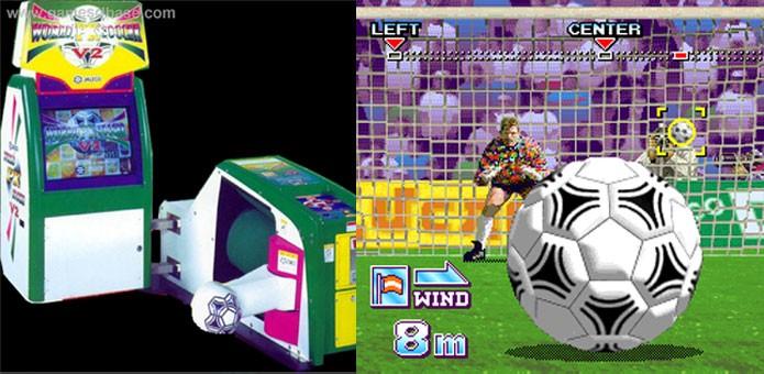 World PK Soccer trazia até mesmo uma máquina de chutes (Foto: Divulgação)