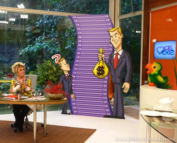 Programa discute a relação entre altura e sucesso profissional (Foto: Mais Você / TV Globo)