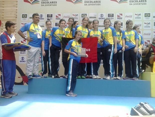 Handebol do Motiva fica com a prata nos Jogos Escolares da Juventude, em Belém (Foto: Divulgação)