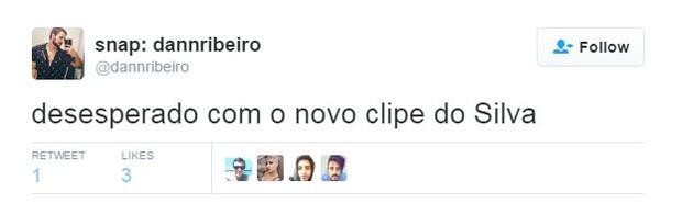 Internautas comentam novo clipe do cantor Silva (Foto: Twitter / Reprodução)