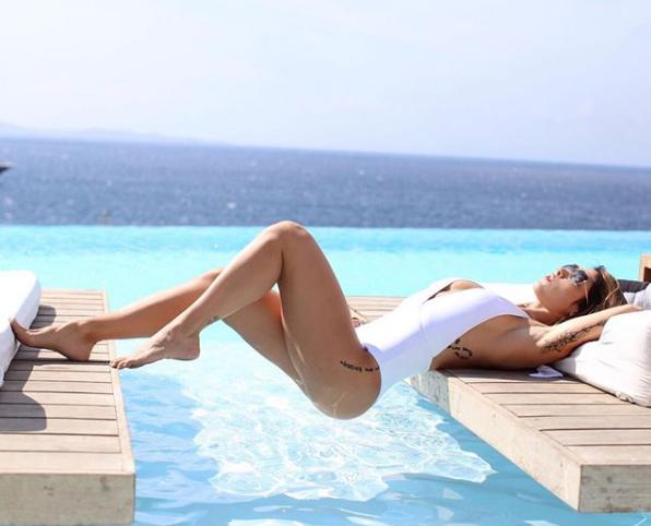 Bella Falconi na Grécia (Foto: Reprodução/Instagram)
