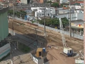 Obras do BRT em Feira de Santana (Foto: Reprodução/TV Subaé)