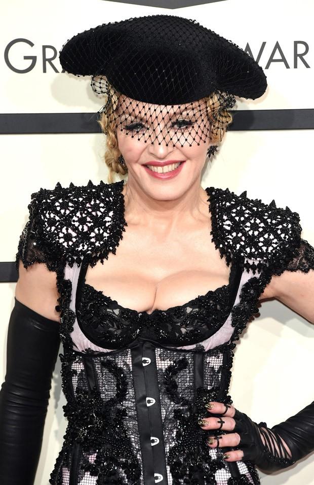Madonna no Grammy Awards 2015 (Foto: Getty Images)