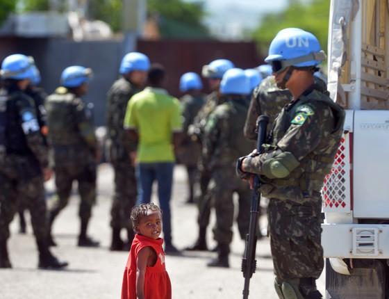 Soldados brasileiros no Haiti (Foto: Tereza Sobreira/Fotos Públicas)