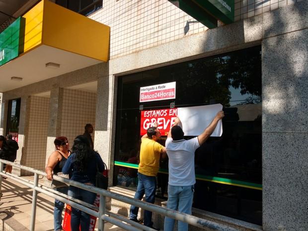 Sindicato ainda não sabe o tota de agências que devem aderir a paralisação  (Foto: Caio Fulgêncio/G1)