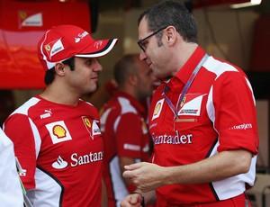 Felipe Massa e Stefano Domenicali - GP de Cingapura de 2012 (Foto: Getty Images)