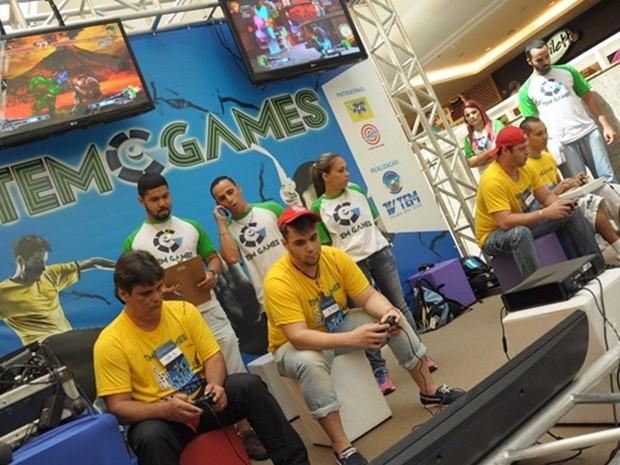 Semifinalistas do Super Street Fighter  Arcade do TEM Games Rio Preto (Foto: Santiago Garcia/TV TEM)