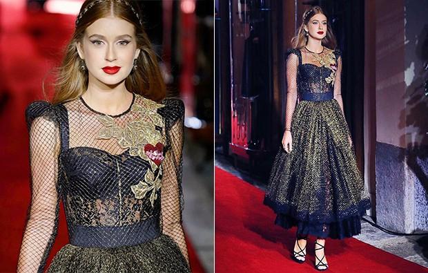 Marina Ruy Barbosa desfila para Dolce & Gabbana  (Foto: Reprodução/ Instagram)