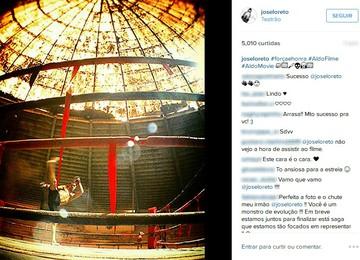 José Loreto gravação filme José Aldo (Foto: Reprodução/Instagram)