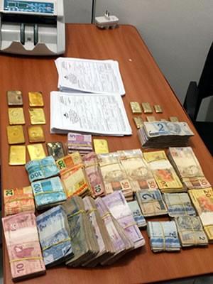 Operação da Polícia Federal já apreendeu barras de ouro e notas em dinheiro (Foto: Assessoria/ Polícia Federal de MT)