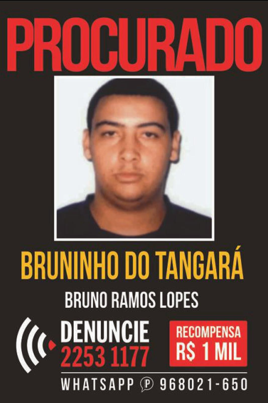 Bruninho do Tangará está sendo procurado (Foto: Reprodução)
