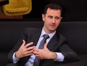 O presidente sírio durante outra entrevista, a jornal turco, no último dia 3 (Foto: AFP)