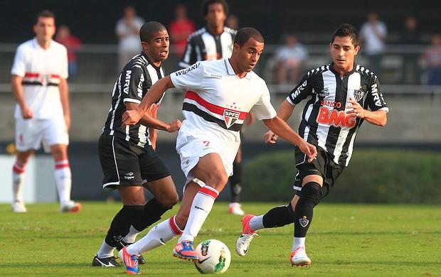 Junior Cesar e Lucas, São Paulo x Atlético-MG (Foto: Idário Café / Vipcomm)