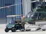 Harrison Ford anda de helicóptero após acidente de avião