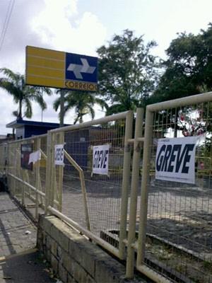 Greve nos Correios (Foto: Kety Marinho/TV Globo)