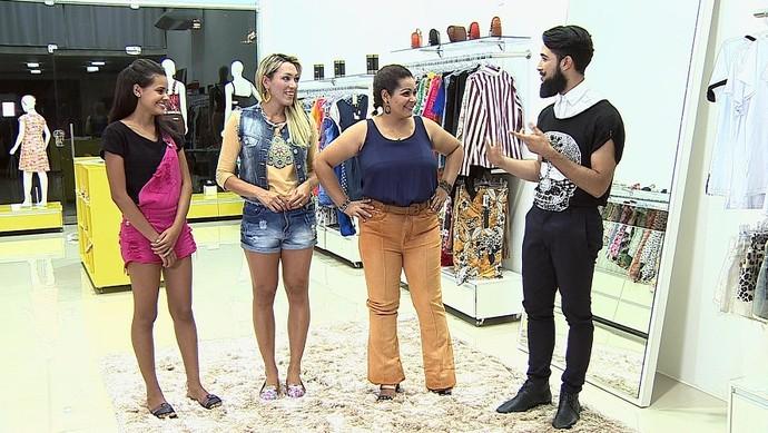 Cláudia Oliveira passou pela consultoria do Alisson Vicky no 'SC' (Foto: TV Sergipe)