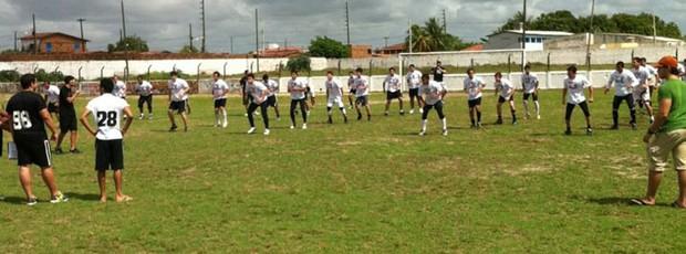 Botafogo Espectros, time de futebol americano de João Pessoa (treino) (Foto: Divulgação)