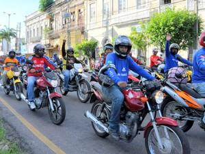 Mototaxistas Belém (Foto: Divulgação/Comus)