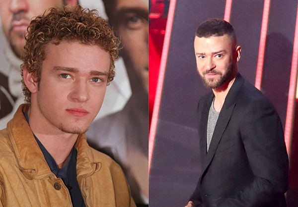 JUSTIN TIMBERLAKE (2000 e 2017) (Foto: Getty Images)