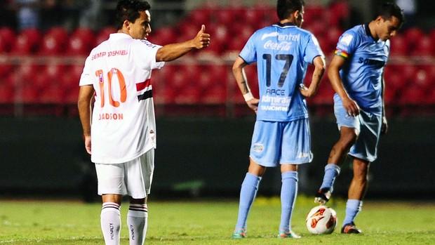 Jadson comemora gol do São Paulo (Foto: Marcos Ribolli / Globoesporte.com)