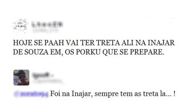 Briga Inaja Twitter (Foto: Reprodução / Twitter)