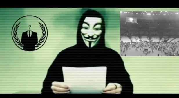 Grupo hacker Anonymous em mensagem a terroristas do EI (Foto: Reprodução)