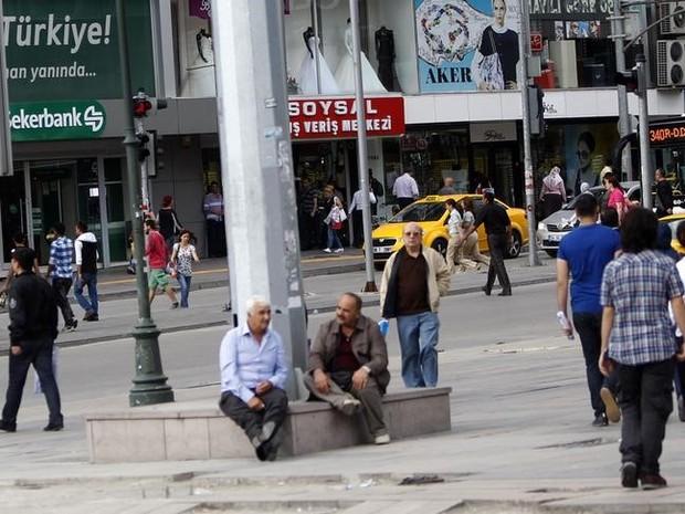 Praça Kizilay, no centro de Ancara, em registro de 2013. (Foto: Dado Ruvic)