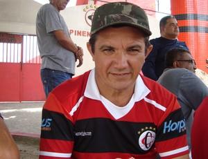 Damião Porto, Nenen Raposeiro, torcedor do Campinense, Paraíba (Foto: Larissa Keren / Globoesporte.com/pb)