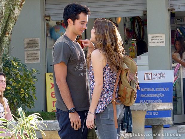 Ben e Anita no maior climinha dá o que pensar, né?  (Foto: Malhação / TV Globo)